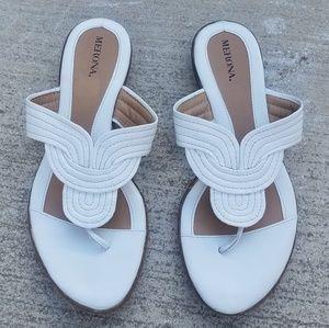 White sandals size 9.5